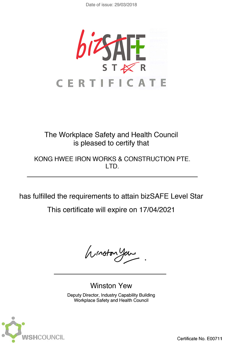 Kong Hwee BizSafe Level Star